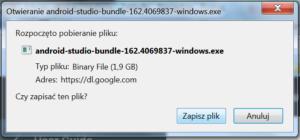 Standardowe okienko zapisu pliku z Windows