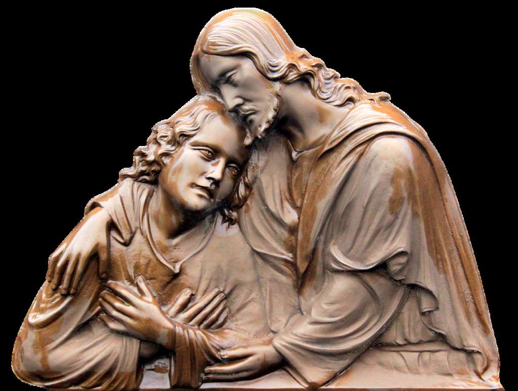Jezus przytula człowieka