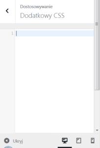 Okienko do wpisywania danych z nagłówkiem Dodatkowy CSS