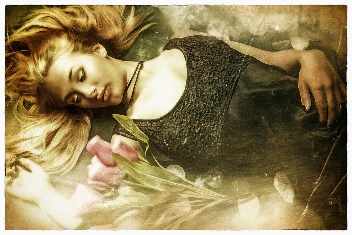 Zasnęła… Z marzeń wygnano ją światów…